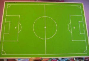 selbstgemachte Fußballpinnwand