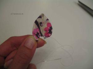 Blütenblatt zusammen kräuseln