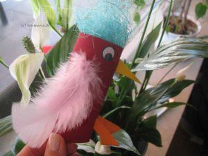 Vogel aus Klorolle