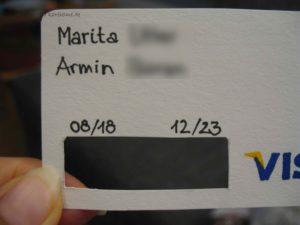 Namen und Daten eintragen