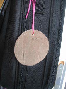 Taschenanhänger aus Leder