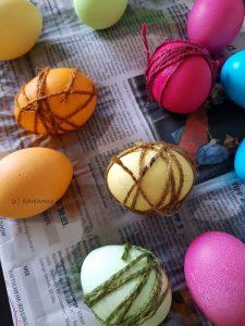 Eier trocknen lassen