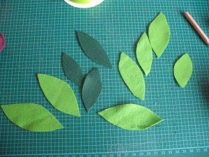Filzblätter zuschneiden