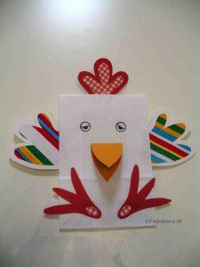 Huhn aus einer Papiertüte