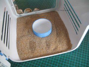 Sand einfüllen