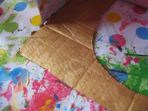 goldene Wand gestalten