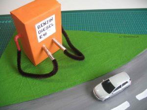 Auto aufkleben