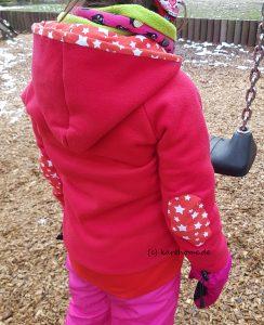 Fleece-Jacke mit Arm-Patches