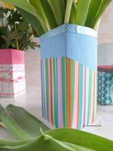 Vase aus TetraPak