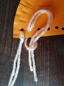 Wolle anknoten