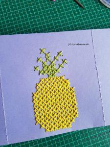 gestickte Ananas