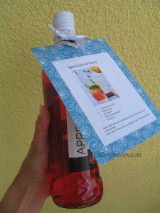 Rezept an die Flasche binden