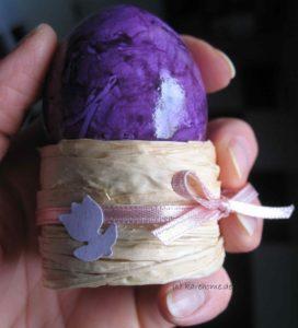 Eierbecher aus Bast Variante 1