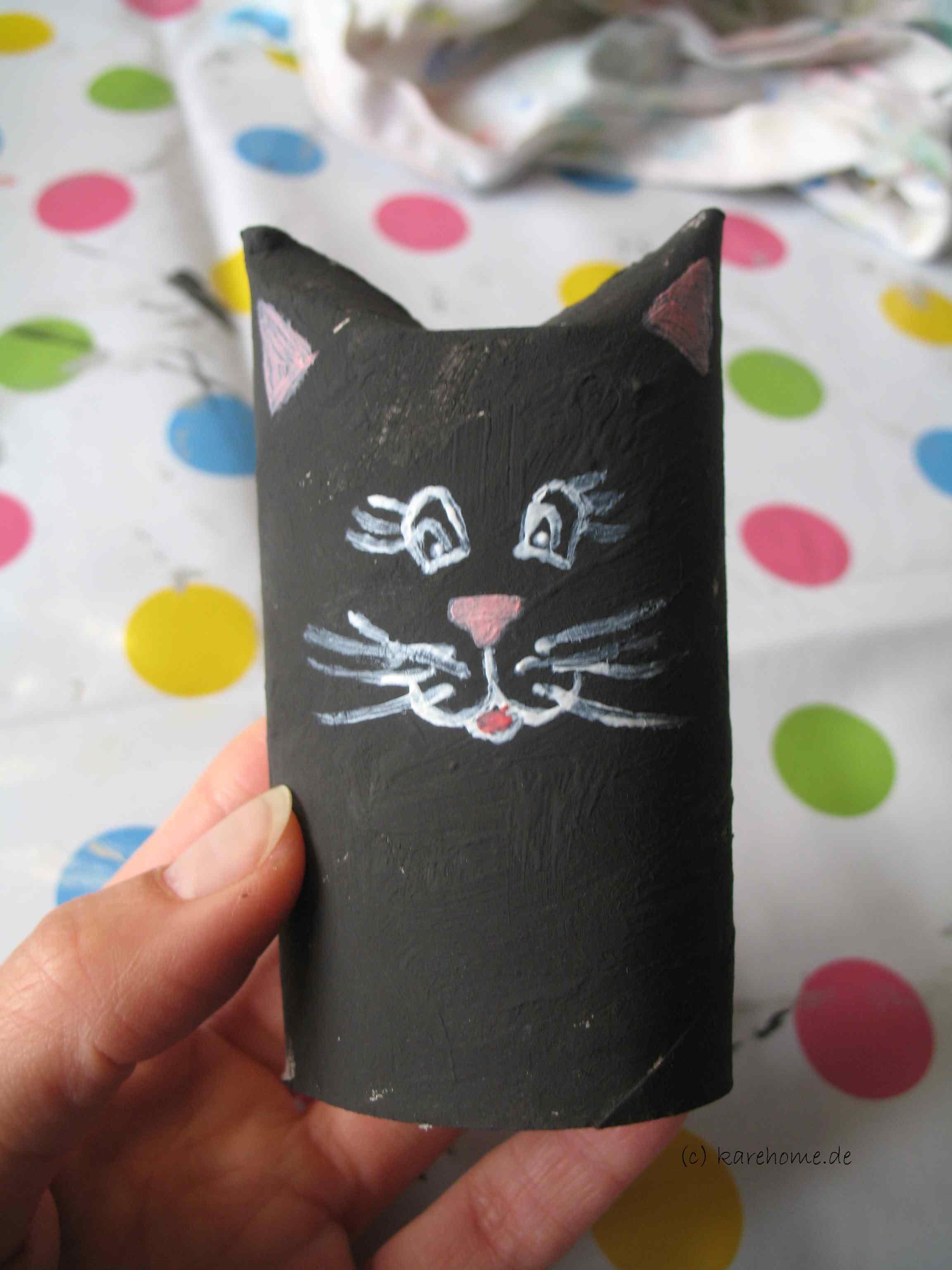 Häufig Basteln mit Klorollen: eine Katze – karehome WY88