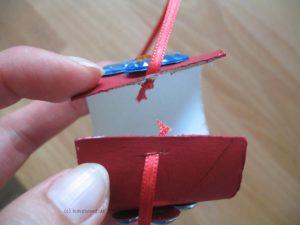 Klorollen-Armband mit Satinband zum Schließen