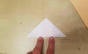 Origami-Weihnachtsbaum falten