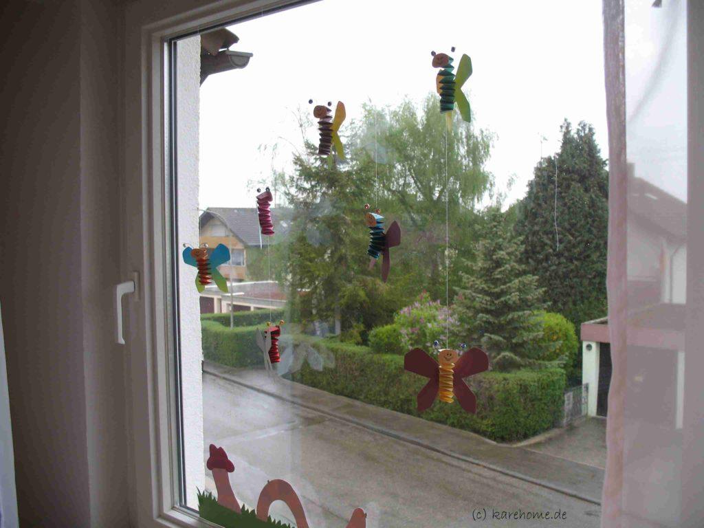 Fensterdeko Furs Kinderzimmer Schmetterlinge Aus Hexentreppen