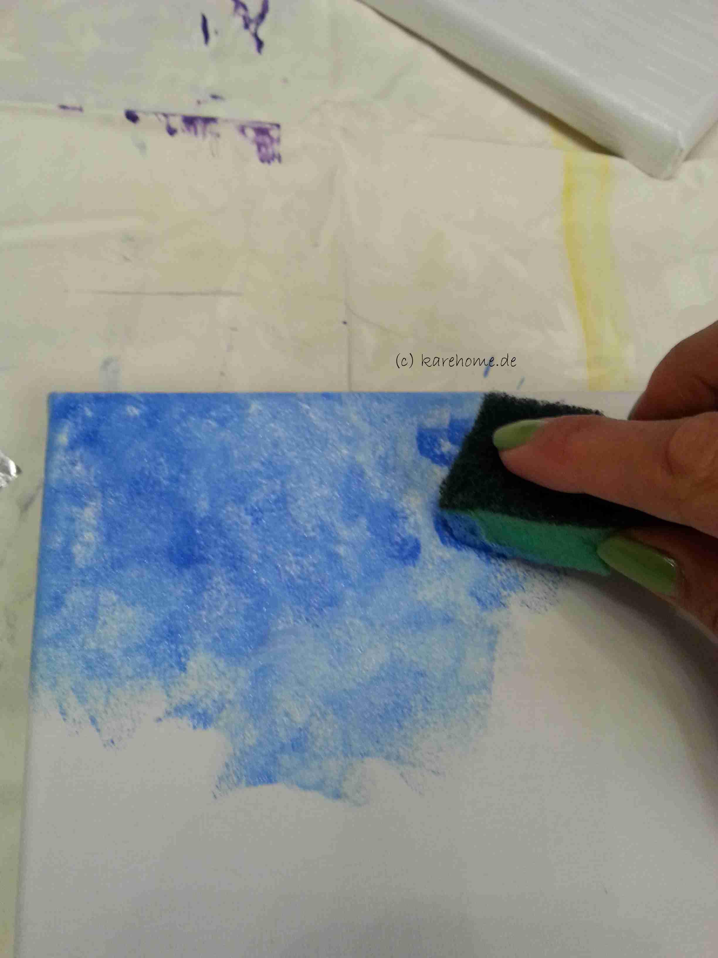 Keilrahmen Mit Acrylfarbe Betupft