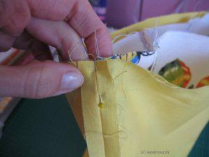 Außen- und Innentasche zusammen nähen
