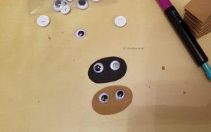 Gestalte das Gesicht der Spinnen
